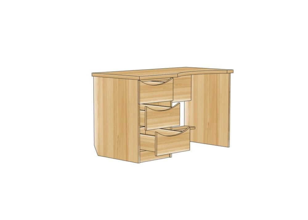 письменный стол из березы, детская мебель на заказ