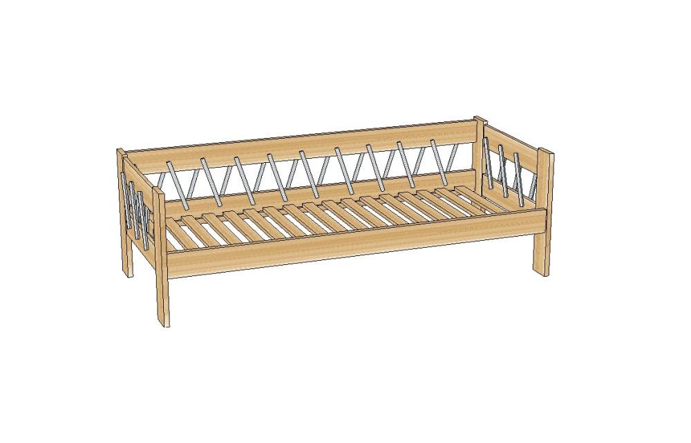 Детская кровать, в морском стиле